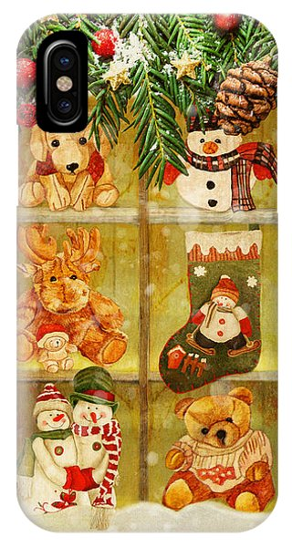 IPhone Case featuring the painting Welcome Christmas by Angeles M Pomata