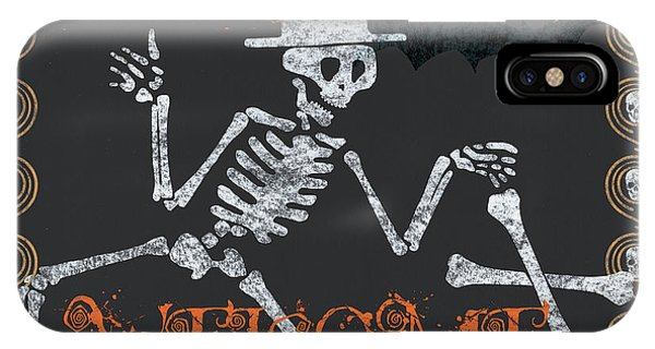Gloomy iPhone Case - Welcome Ghoulish Guests by Debbie DeWitt