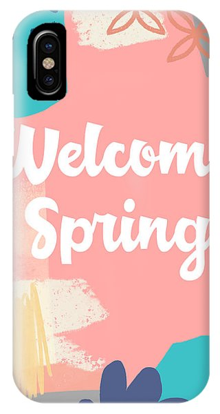 Peach iPhone Case - Welcome Spring- Colorful Art By Linda Woods by Linda Woods