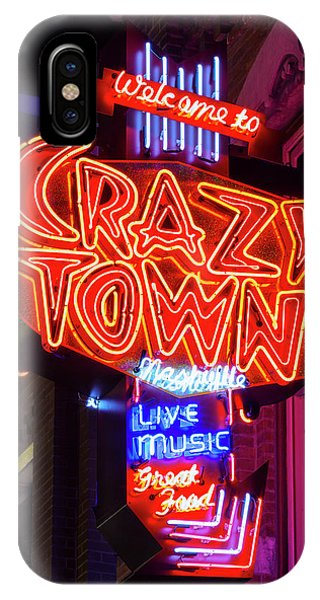 Greece iPhone Case - Welcome To Crazy Town - Nashville by Stephen Stookey