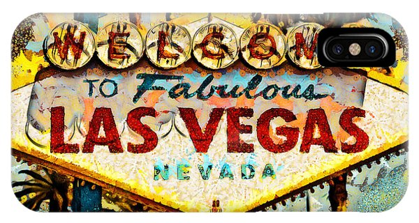 IPhone Case featuring the photograph Welcome To Las Vegas Nevada Whatever Happens Here Stays Here 20180518 by Wingsdomain Art and Photography