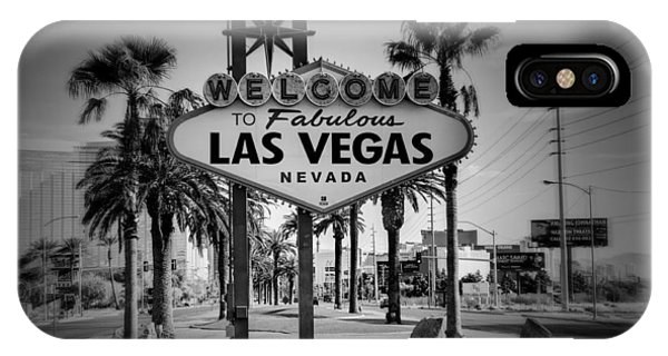 Welcome To Las Vegas Series Holga Black And White IPhone Case