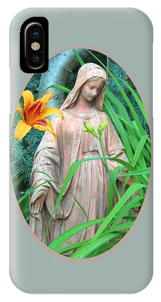 Peace Be With You - Images From The Garden IPhone Case