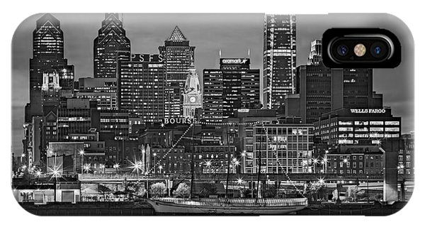 Welcome To Penn's Landing Bw IPhone Case