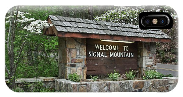 Welcome To Signal Mountain Spring IPhone Case
