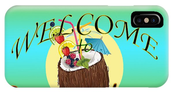 Tiki Bar iPhone Case - Welcome To Somewhere - Tropical by M Gilroy
