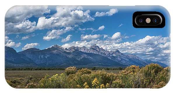 Rocky Mountain Np iPhone Case - Welcome To The Tetons - Grand Teton National Park Wyoming by Brian Harig