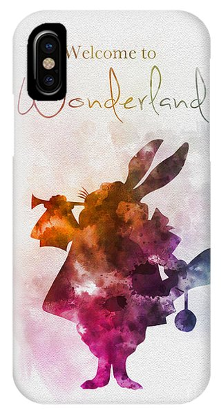 Alice In Wonderland iPhone Case - Welcome To Wonderland by Rebecca Jenkins