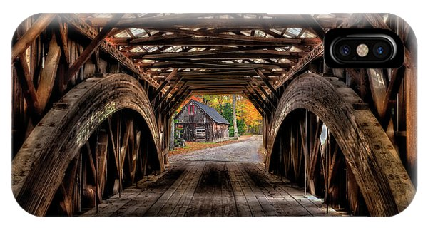 New England Barn iPhone Case - We'll Cross That Bridge by T-S Fine Art Landscape Photography