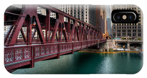 Well Street Bridge, Chicago IPhone Case