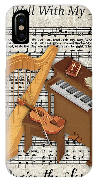 Yellow Trumpet iPhone Case - Well With My Soul-jp3514 by Jean Plout