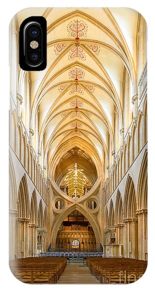 Wells Cathedral Nave IPhone Case