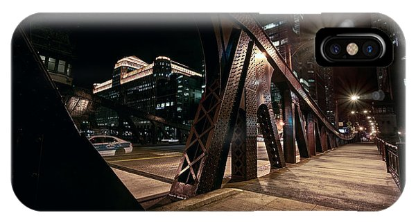 Midnite iPhone Case - Wells Street Bridge - Chicago by Daniel Hagerman