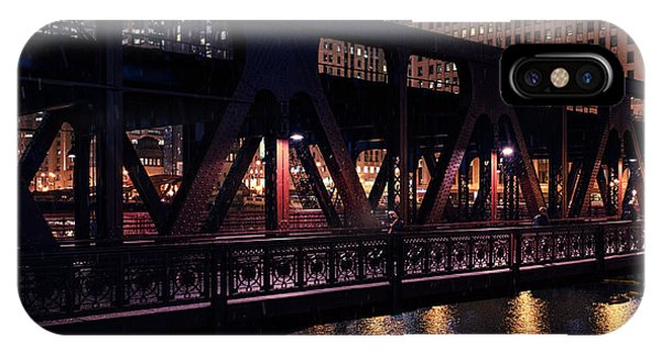 Wells Street Bridge II IPhone Case