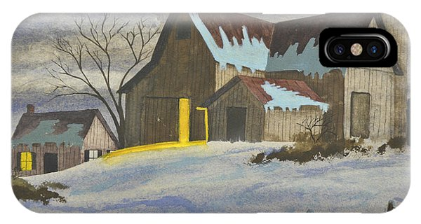 New England Barn iPhone Case - We're Home On The Farm by Charlotte Blanchard