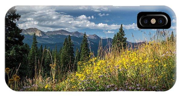 West Elk Mountain Range IPhone Case
