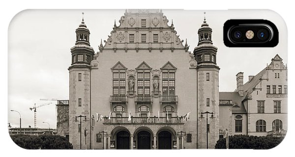 West Facade Of Adam Mickiewicz University Poznan Poland IPhone Case