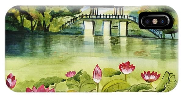Waterlily iPhone Case - West Lake In Summer by Shan Lou