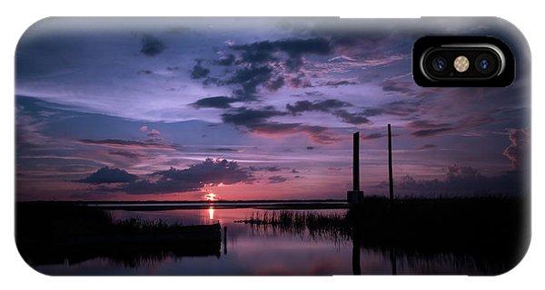 West Lake Toho Blu Indigo Sunset IPhone Case