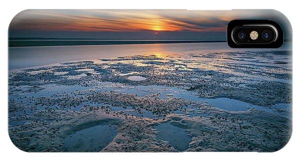 Tidal iPhone Case - West Meadow Beach Afterglow by Rick Berk