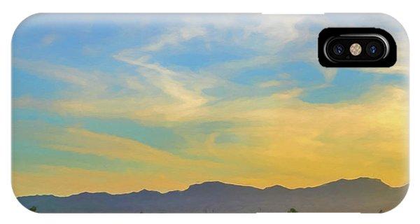 West Phoenix Sunset Digital Art IPhone Case
