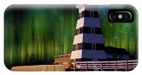 West Point Lighthouse Night Scene IPhone Case