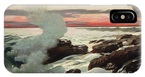 West Bay iPhone Case - West Point Prouts Neck by Winslow Homer