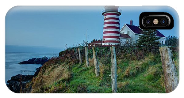 West Quoddy Head Light IPhone Case