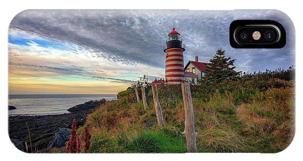 Navigation iPhone Case - West Quoddy Head Light Station by Rick Berk