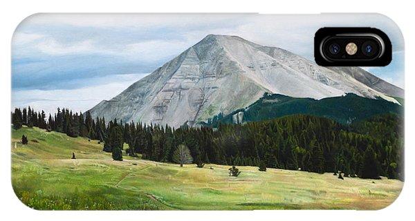 West Spanish Peak In Summer IPhone Case