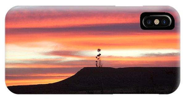 Mile Marker 122 West Texas Sunrise IPhone Case