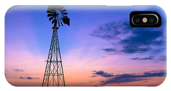 West Texas Windmill IPhone Case