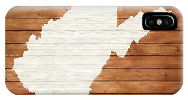 Traveler iPhone Case - West Virginia Rustic Map On Wood by Dan Sproul