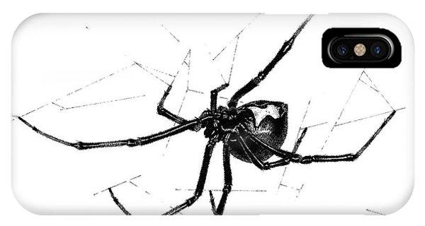 Western Black Widow IPhone Case