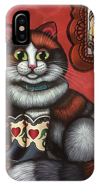 Western Boots Cat Painting IPhone Case