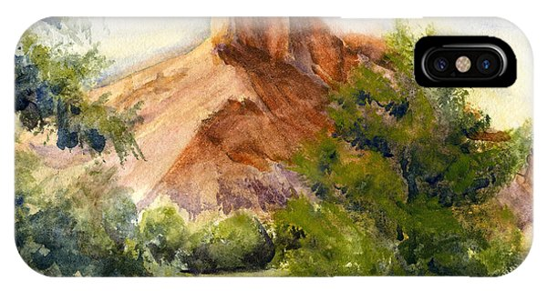Western Landscape Watercolor IPhone Case