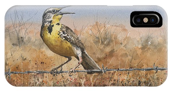 Western Meadowlark IPhone Case