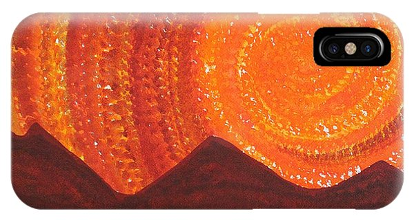 Western Sky Wave Original Painting IPhone Case