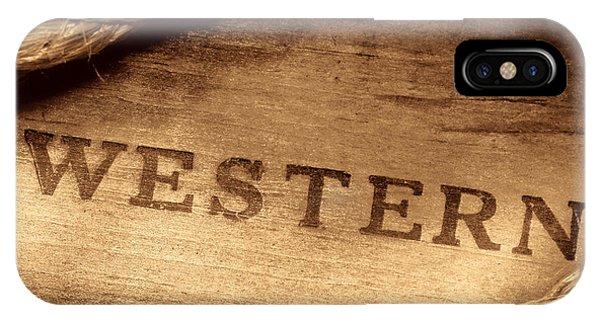 Western Stamp Branding IPhone Case