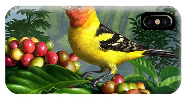 Colorful Bird iPhone Case - Western Tanager by Jerry LoFaro