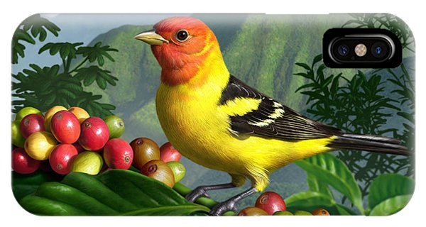 Lush iPhone Case - Western Tanager by Jerry LoFaro
