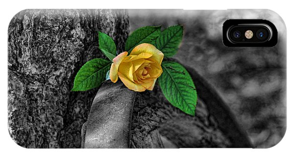 Western Yellow Rose Two Tone IPhone Case