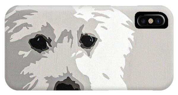 Pets iPhone Case - Westie by Slade Roberts