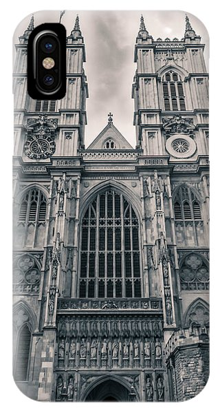Westminister Abbey Bw IPhone Case