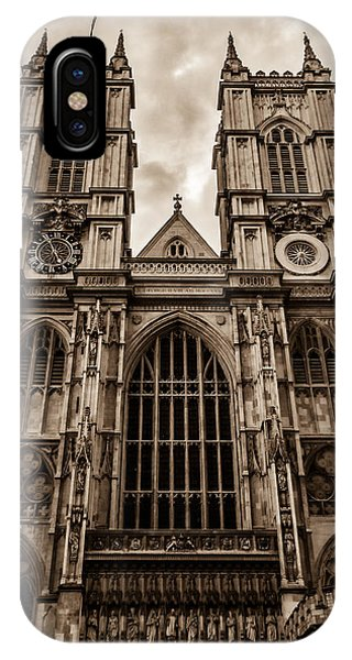 Westminister Abbey Sepia IPhone Case