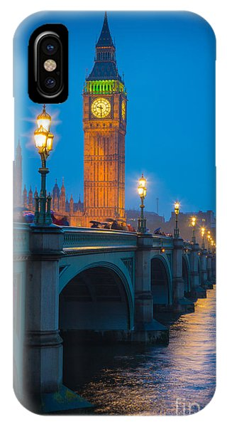 Westminster Bridge At Night IPhone Case