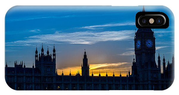Westminster Parlament In London Golden Hour IPhone Case