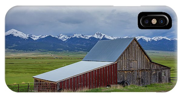 Sangre De Cristo iPhone Case - Wet Mountain Valley Barn by Bridget Calip