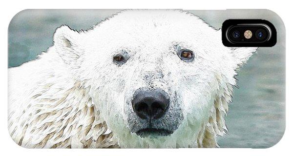 Wet Polar Bear IPhone Case