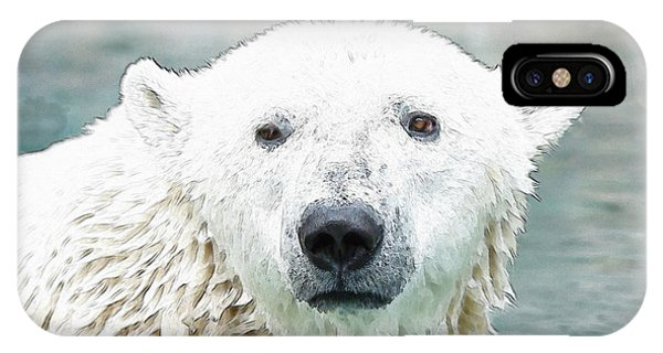 Wet Polar Bear IPhone Case